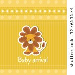 baby arrival card | Shutterstock .eps vector #127651574