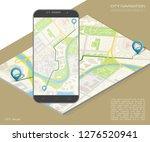 city map route navigation... | Shutterstock .eps vector #1276520941