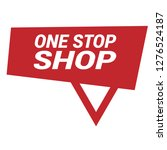 one stop shop sign   label...