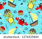 seamless pattern vector of... | Shutterstock .eps vector #1276525834