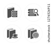 4 book  browsing modern icons... | Shutterstock .eps vector #1276526911