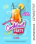cocktail party poster in... | Shutterstock .eps vector #1276527727