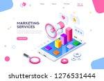 isometric concept of digital...   Shutterstock .eps vector #1276531444