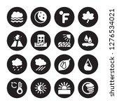 16 vector icon set   foggy ... | Shutterstock .eps vector #1276534021