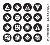 16 vector icon set   hump or... | Shutterstock .eps vector #1276534024