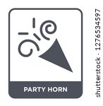 party horn icon vector on white ... | Shutterstock .eps vector #1276534597