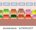 super market shelves fresh... | Shutterstock .eps vector #1276541227