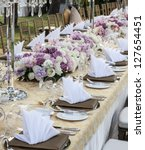 the elegant dinner table. | Shutterstock . vector #127654451