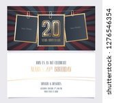 20 years anniversary party... | Shutterstock .eps vector #1276546354