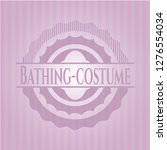 bathing costume realistic pink... | Shutterstock .eps vector #1276554034