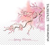 spring blossom. flowering plum... | Shutterstock .eps vector #1276558741