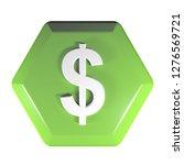 a green hexagonal push button...   Shutterstock . vector #1276569721