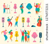colorful modern flat characters ... | Shutterstock . vector #1276572211