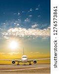 passenger jet plane on the... | Shutterstock . vector #1276573861