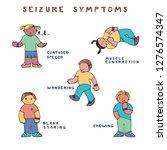 set of kids with seizure... | Shutterstock .eps vector #1276574347