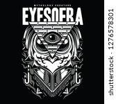 eyes of ra black and white... | Shutterstock .eps vector #1276578301