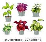 illustration of six non... | Shutterstock .eps vector #127658549
