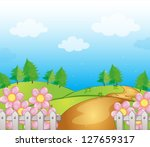 illustration of a road and dirt ...   Shutterstock .eps vector #127659317
