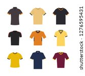set of sport t shirts isolated... | Shutterstock .eps vector #1276595431
