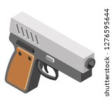 isometric icon of pistol | Shutterstock .eps vector #1276595644