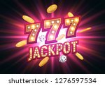 jackpot sign with falling gold... | Shutterstock .eps vector #1276597534