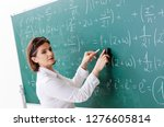 female math teacher in front of ... | Shutterstock . vector #1276605814