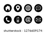 web icon set symbol vector ... | Shutterstock .eps vector #1276609174