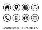 web icon set symbol vector ... | Shutterstock .eps vector #1276609177