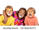children's group and... | Shutterstock . vector #1276614271