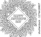 happy mother's day coloring... | Shutterstock .eps vector #1276618807