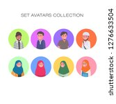 set avatar character young... | Shutterstock .eps vector #1276633504
