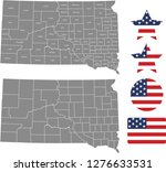 south dakota county map vector... | Shutterstock .eps vector #1276633531
