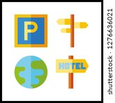 4 continent icon. vector...   Shutterstock .eps vector #1276636021