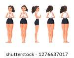 vector illustration of sportive ... | Shutterstock .eps vector #1276637017