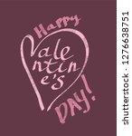 text happy valentine's day ... | Shutterstock .eps vector #1276638751