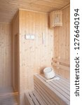 interior of empty sauna room | Shutterstock . vector #1276640194
