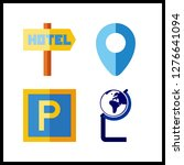 4 continent icon. vector...   Shutterstock .eps vector #1276641094