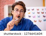 student entomologist studying...   Shutterstock . vector #1276641604