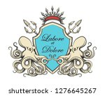 hand drawn coat of arms with... | Shutterstock . vector #1276645267