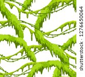twisted wild lianas seamless... | Shutterstock .eps vector #1276650064