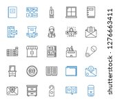 open icons set. collection of... | Shutterstock .eps vector #1276663411