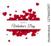 happy valentines day and... | Shutterstock .eps vector #1276665307