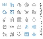 cook icons set. collection of... | Shutterstock .eps vector #1276666717