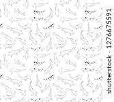 seamless pattern koi carp... | Shutterstock .eps vector #1276675591