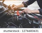 services car engine machine... | Shutterstock . vector #1276683631