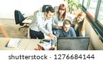 young people employee coworkers ... | Shutterstock . vector #1276684144