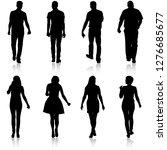 black silhouette group of... | Shutterstock .eps vector #1276685677