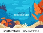 vector abstract illustration in ... | Shutterstock .eps vector #1276691911