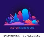 vector illustration in trendy... | Shutterstock .eps vector #1276692157
