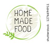 home made food label and high...   Shutterstock .eps vector #1276694911